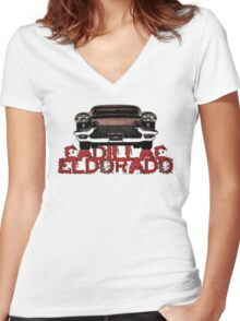 Cadillac Eldorado tribute Women's Fitted V-Neck T-Shirt