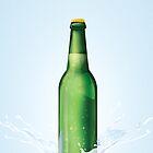 Beer Bottle vintage poster by Nick  Greenaway