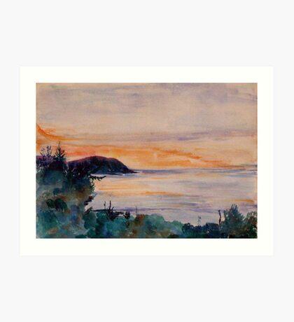 Sunset across the Bristol Channel  Art Print
