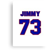 National football player Jimmy Kennedy jersey 73 Canvas Print