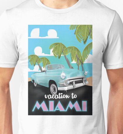 Vintage Miami travel poster Unisex T-Shirt