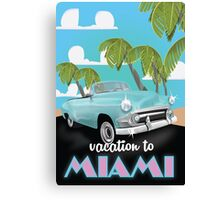 Vintage Miami travel poster Canvas Print
