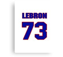National football player Lebron Shields jersey 73 Canvas Print