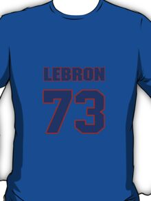 National football player Lebron Shields jersey 73 T-Shirt