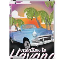 Havana, Cuba Vintage auto vacation Poster iPad Case/Skin