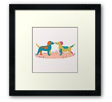 Paper Dogs Framed Print
