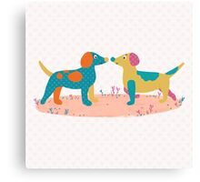 Paper Dogs Canvas Print