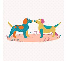 Paper Dogs Photographic Print