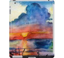 Sunset beach, Arambol, India, Goa, paper watercolor, ink pen iPad Case/Skin