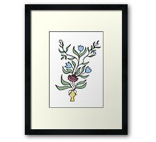 flower pot motif Framed Print