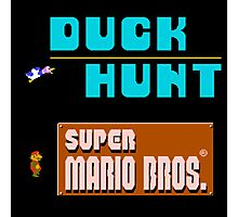 Duck Hunt and Super Mario Bros Photographic Print