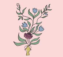flower pot motif Kids Clothes