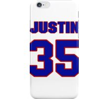 National football player Justin Rogers jersey 35 iPhone Case/Skin