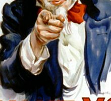I Want You - Uncle Sam Sticker