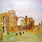 Lindisfarne Priory by GEORGE SANDERSON