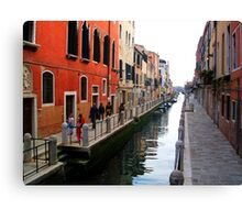 Colourful Street, Venice Canvas Print