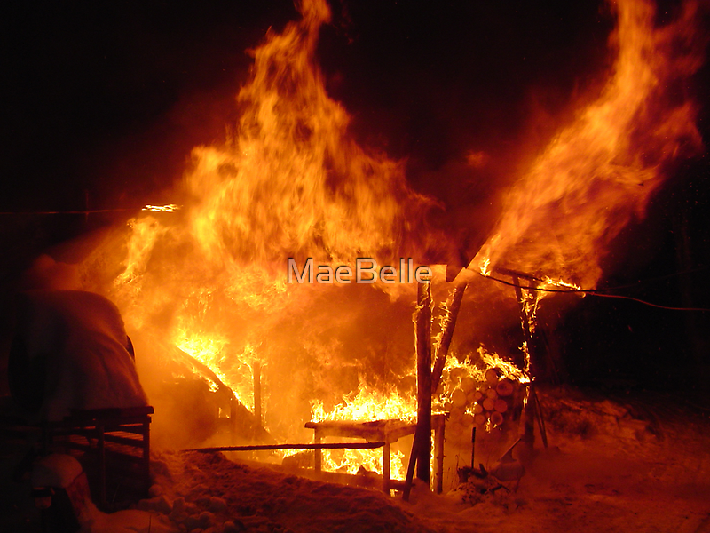 Shed Fire by MaeBelle