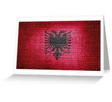 Albania Flag Greeting Card