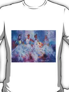 Four Flamenco Dancers Painting - Dance Art Gallery T-Shirt