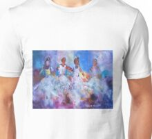 Four Flamenco Dancers Painting - Dance Art Gallery Unisex T-Shirt