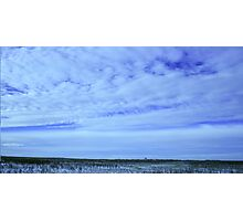Grain Elevator On The Prairies Photographic Print