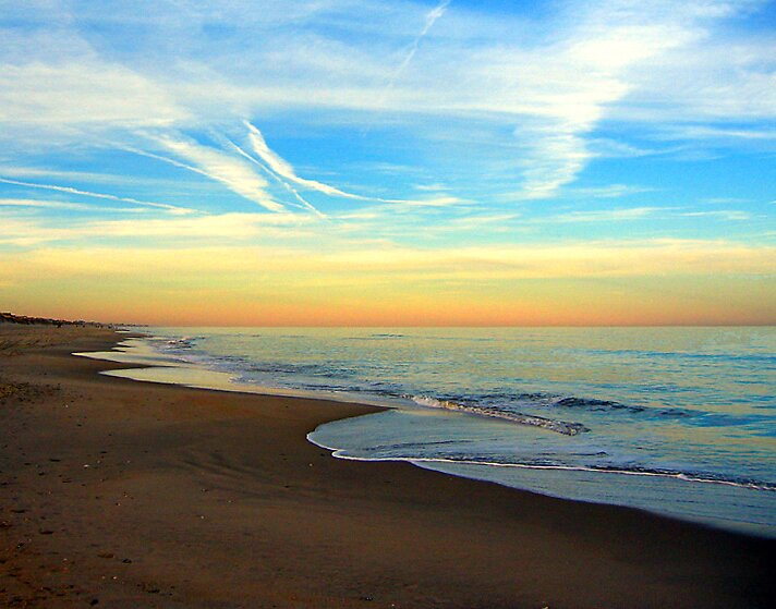 Quot Beach Sunset Ocean Sands Corolla Outer Banks North
