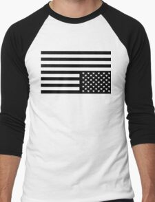 American Flag Men's Baseball ¾ T-Shirt