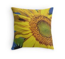 Sunflower And Guest Throw Pillow