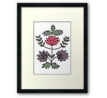 folk flower motif Framed Print