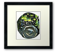 Tango Apple - Crushed Tin Framed Print