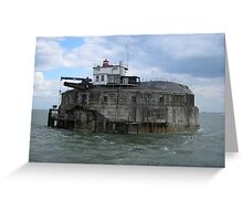 Spitbank Fort Greeting Card