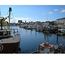 Plymouth Fishing Harbour Photographic Print