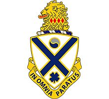 114th Infantry Regiment - IN OMNIA PARATUS - In All Things Prepared Photographic Print