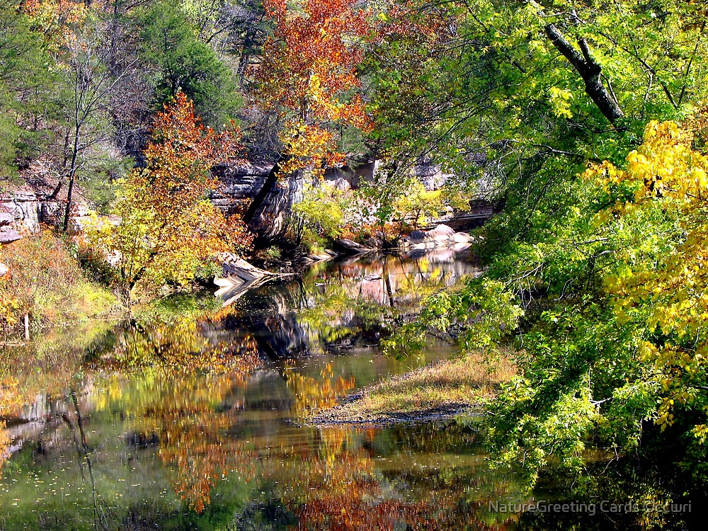 ~Reflecting Autumn~ by NatureGreeting Cards ©ccwri