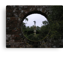 and looking through the round window . . . Canvas Print