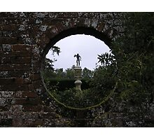 and looking through the round window . . . Photographic Print
