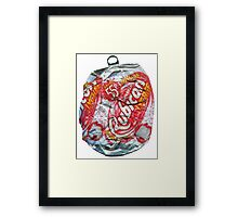Rubicon Lychee - Crushed Tin Framed Print