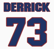 National football player Derrick Ham jersey 73 by imsport