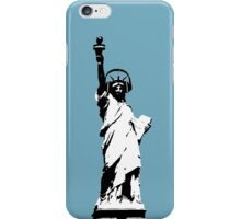 Lady Liberty with DJ Headphone iPhone Case/Skin