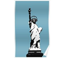 Lady Liberty with DJ Headphone Poster