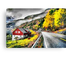 House near the road Canvas Print