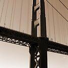 Golden Gate in Sepia by Kristin Hamm