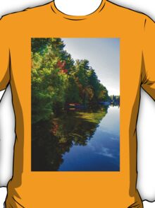 Autumn Lake Mirror - Impressions Of Fall T-Shirt
