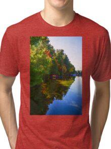 Autumn Lake Mirror - Impressions Of Fall Tri-blend T-Shirt