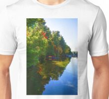 Autumn Lake Mirror - Impressions Of Fall Unisex T-Shirt