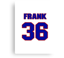 National football player Frank Wycheck jersey 36 Canvas Print