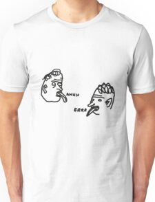 David Shrigley style 'Ahhh' and 'Errr' illustrations for stickers Unisex T-Shirt