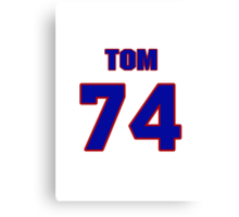 National football player Tom Keating jersey 74 Canvas Print