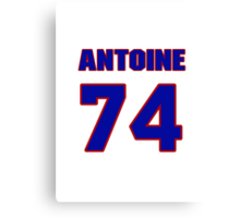 National football player Antoine McClain jersey 74 Canvas Print