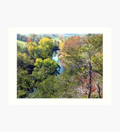 River Runs Through, War Eagle River Art Print